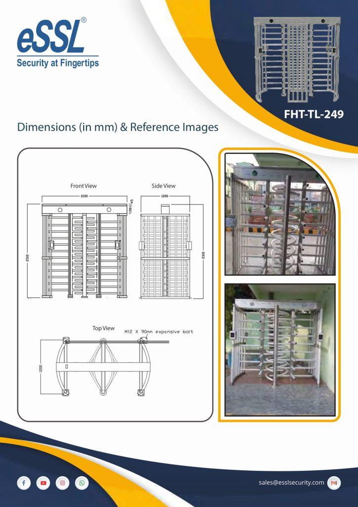 Installation Picture of Full height turnstile Double door