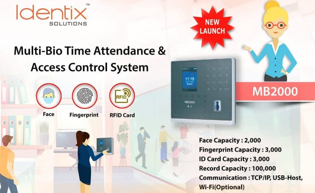 eSSL MB2000 Face Fingerprint Time Attendance & Access Control System