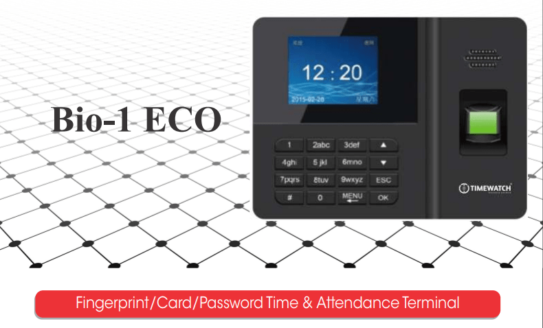 Bio-1 Fingerprint Card Password Time Attendance Machine