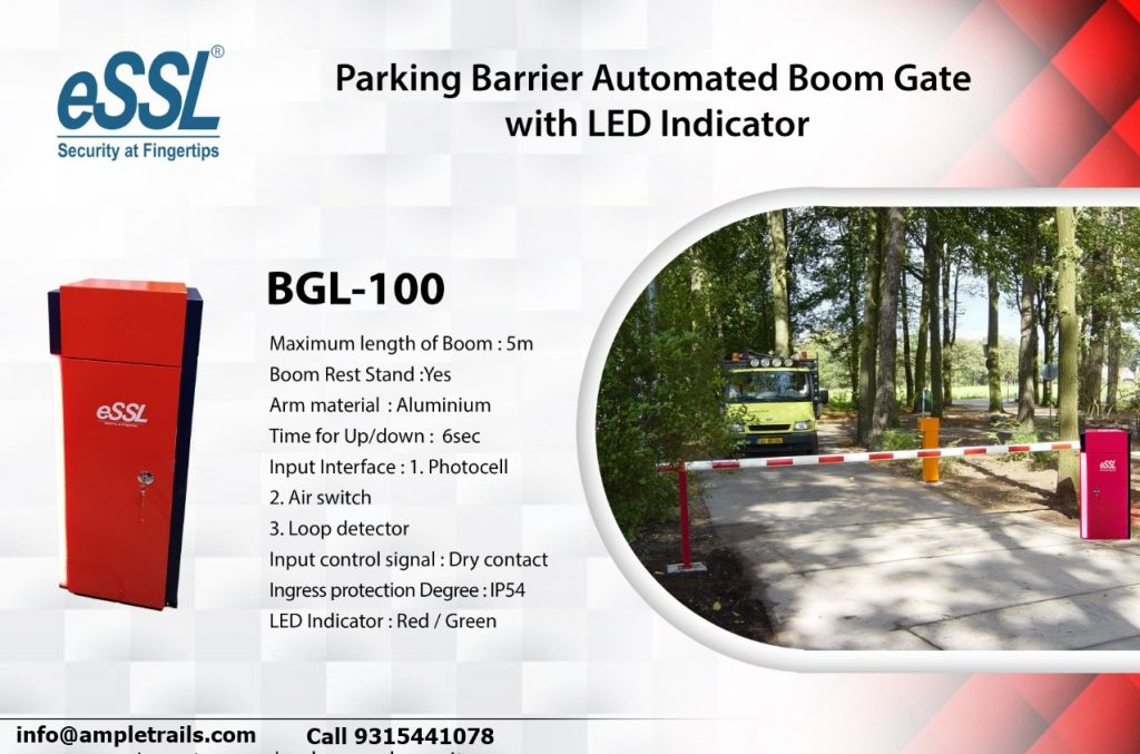 Parking Barrier Automated Boom Gate with LED Indicator