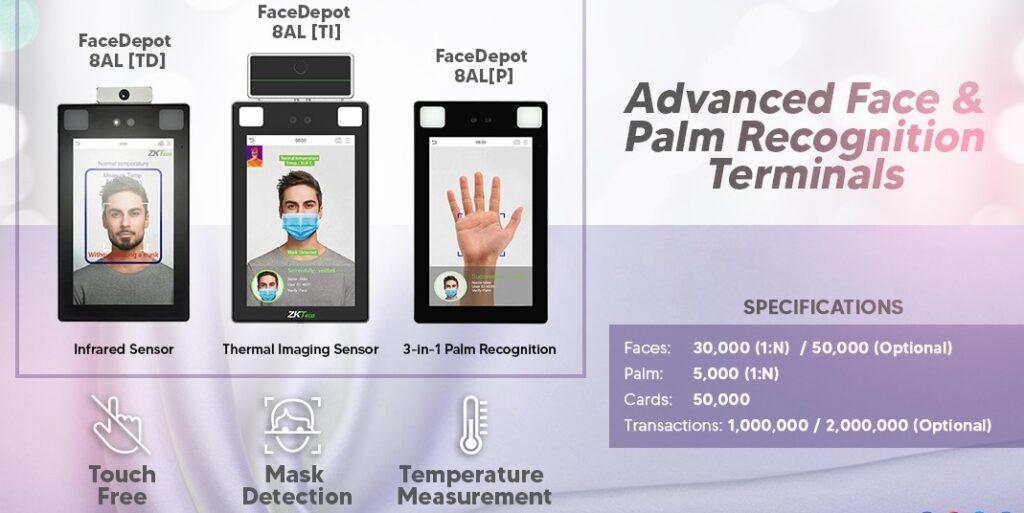 Face Palm Recognition Terminals