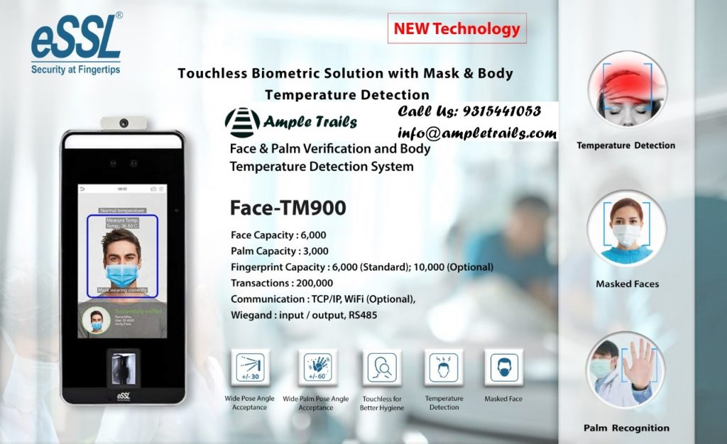 eSSL TM900 Face Verification Body Temperature Detection System