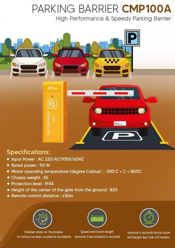 High Performance Speedy Parking Barrier CMP 100A