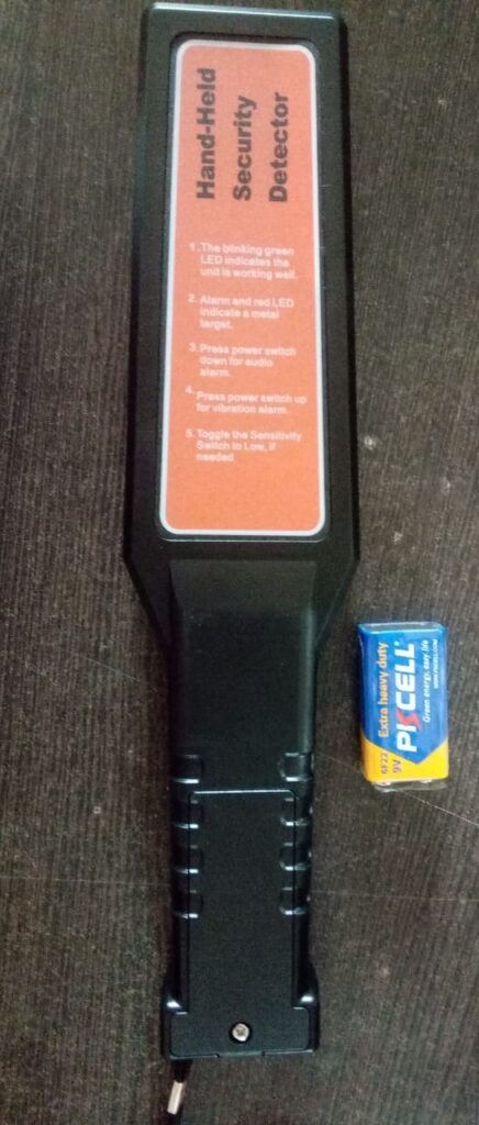 HHDM Hand Held Metal Detector