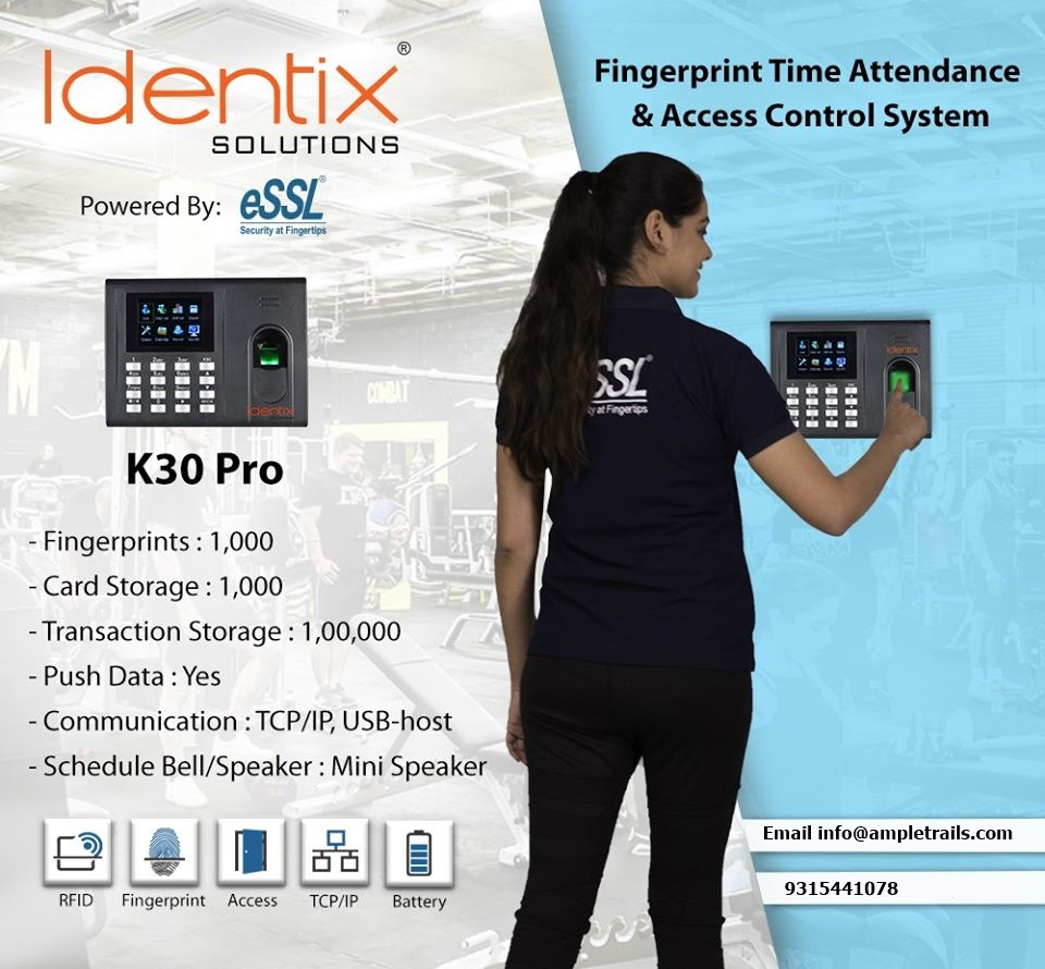 eSSL K30 Pro Fingerprint Time Attendance and Access Control System