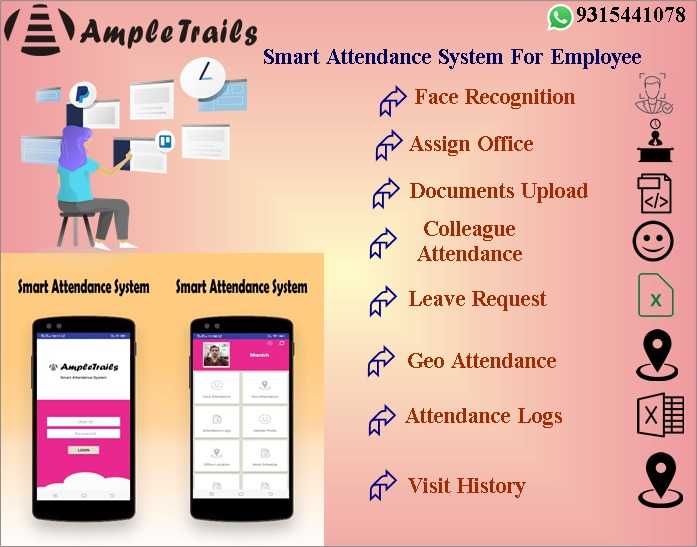 Monitor Your Employees' Attendance Using the AmpleTrails Mobile Attendance App