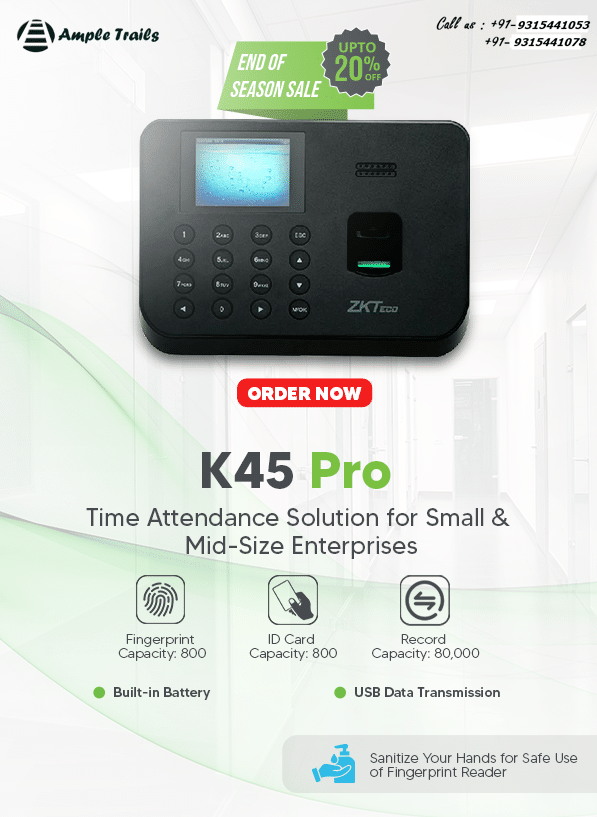 K45 Pro Time Attendance Solution