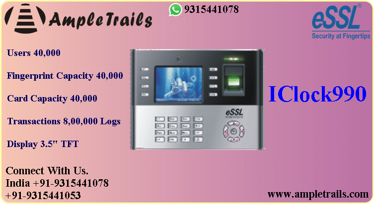 iclock 990 biometric price