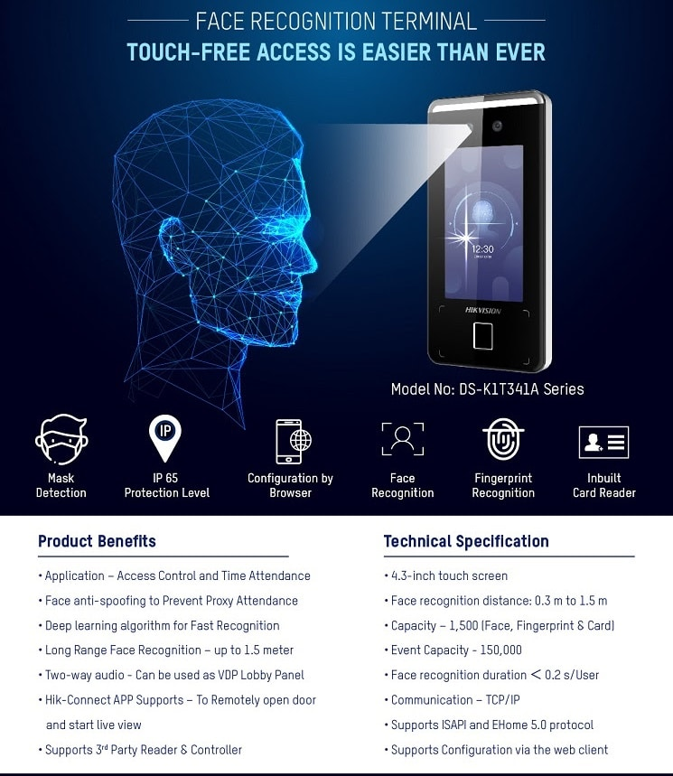 Face Recognition Terminals for Touch-Free Access