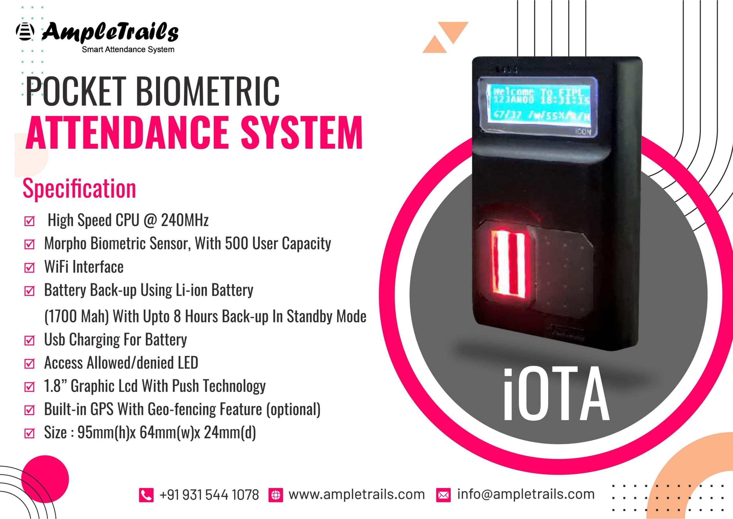 Portable Biometric Attendance System