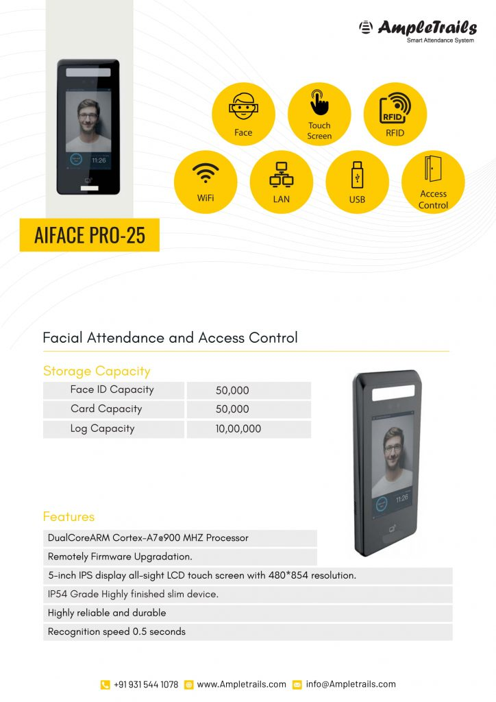 Facial Recognition Biometric Attendance System