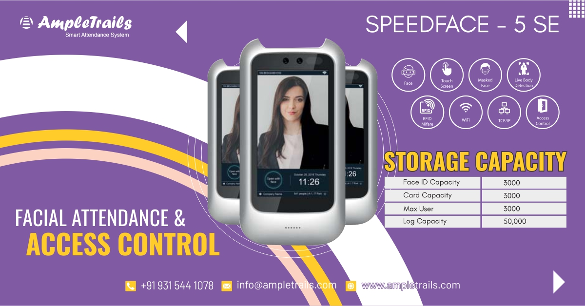 Speed Face 5 SE AI Based Face Recognition System